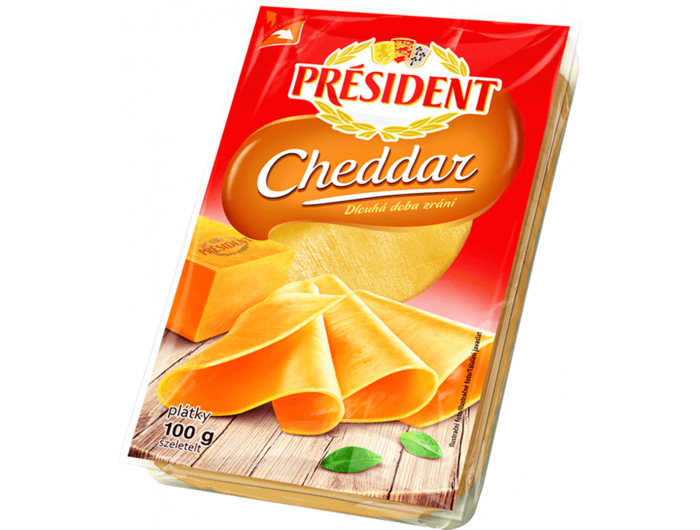 Dukat President Cheddar sir 100 g