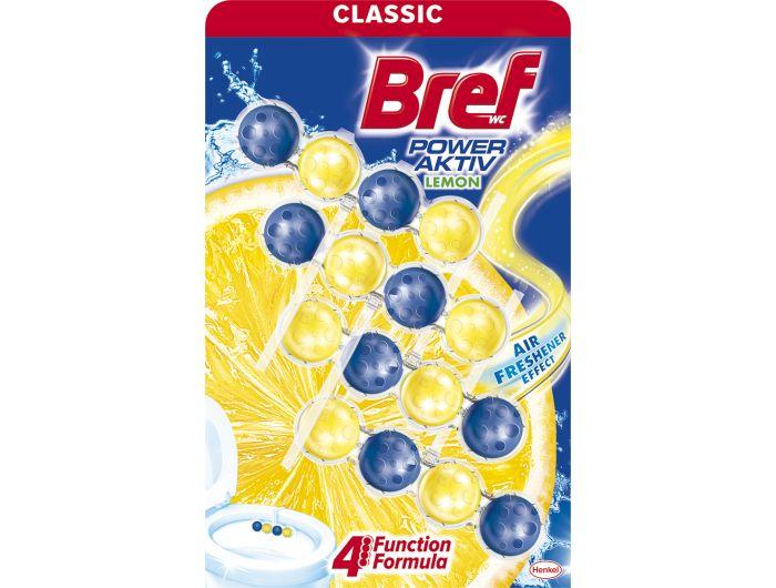 Bref Power Aktiv sredstvo za čišćenje i osvježavanje wc školjke Lemon 4x50 g