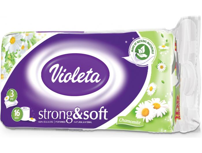 Violeta Toaletni papir troslojni miris kamilice 16 rola