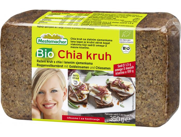 Mestemacher BIO kruh s chia sjemenkama 350 g