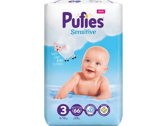 Pufies Sensitive Dječje pelene vel. 3 (6-10 kg) 66 kom