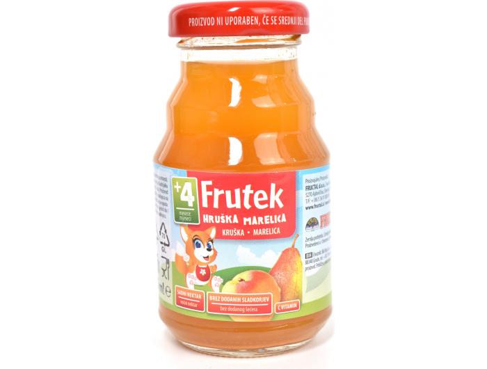 Fructal Frutek voćni nektar od marelice i kruške 4+ mj. 125 ml