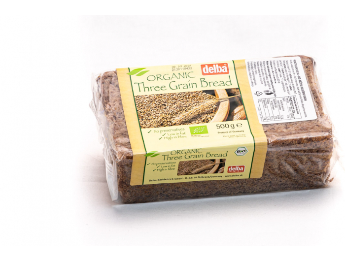 Delba bio kruh s 3 vrste žitarica 500 g