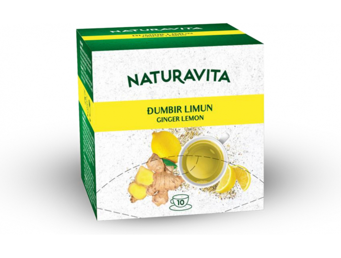 Naturavita čaj đumbir i limun 10x2,5 g