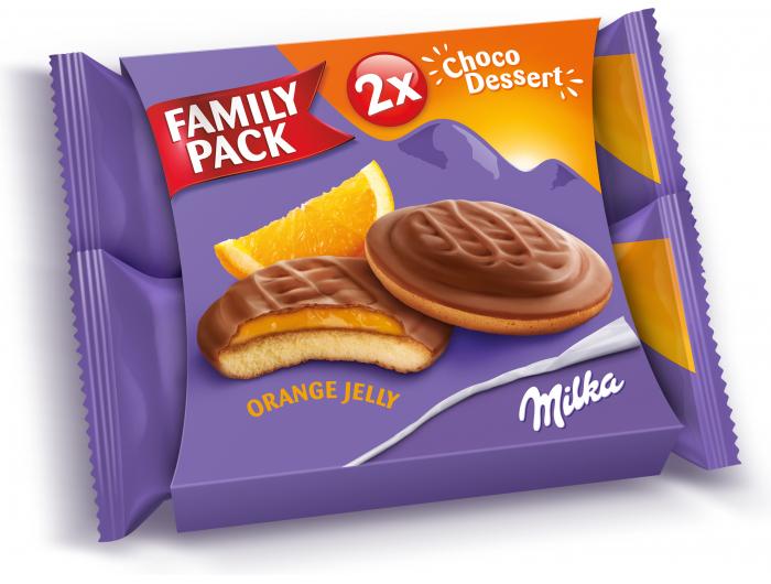 Milka biskvitni desert okusa naranče 2x147 g