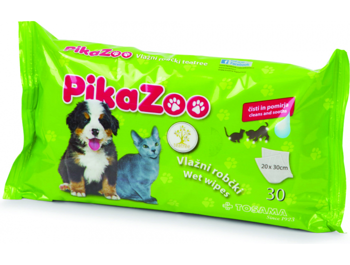 PikaZoo vlažne maramice za kućne ljubimice 30 kom