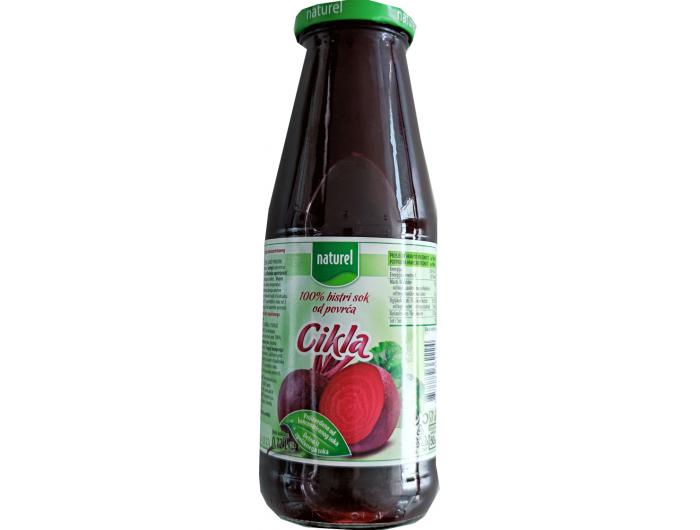 Naturel sok od cikle 100% bez dodanih šećera 0,72 L