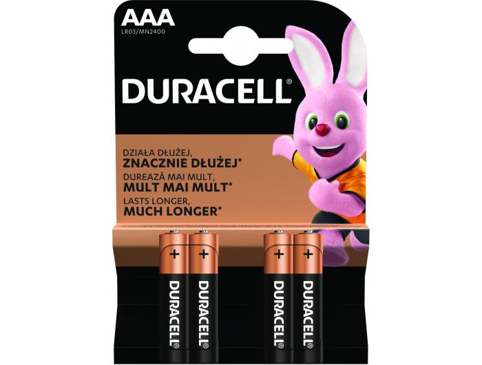 Duracell baterije alkalne AAA 1 pak 4 kom