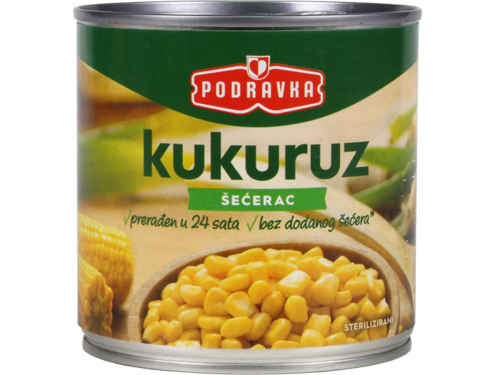 Podravka kukuruz šećerac 340 g