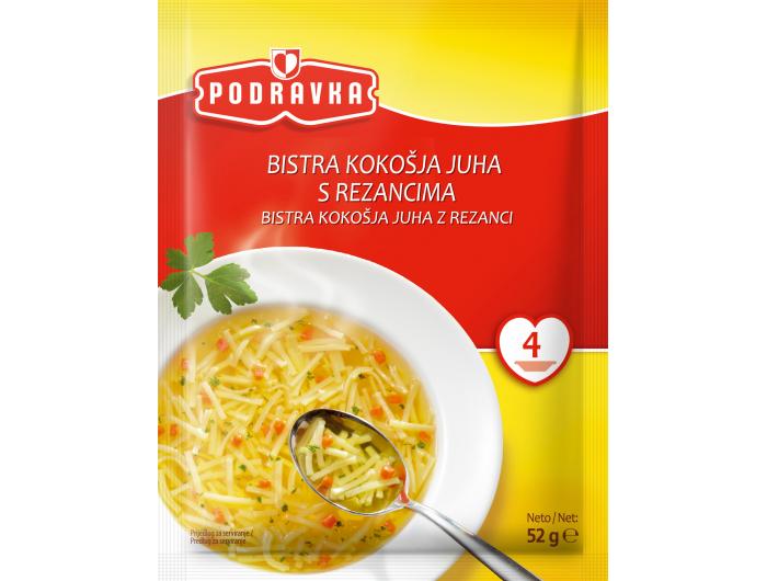 Podravka Bistra kokošja juha s rezancima 52 g