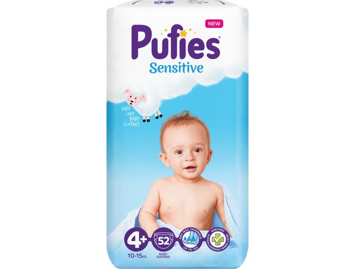 Pufies Sensitive Dječje pelene vel. 4+ (10-15 kg) 52 kom