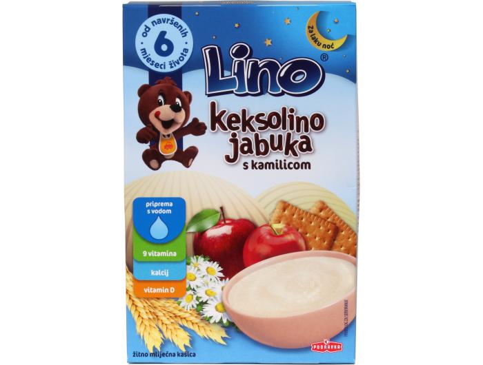 Podravka Lino Keksolino jabuka i kamilica +6 mj. 200 g