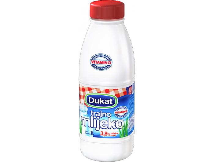 Dukat trajno mlijeko  3,8 % m.m. 1 L