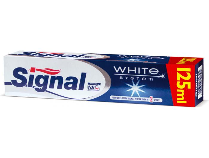 Signal White System Pasta za zube 125 ml