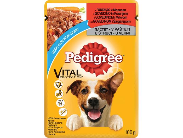 Pedigree hrana za pse govedina imrkva100 g