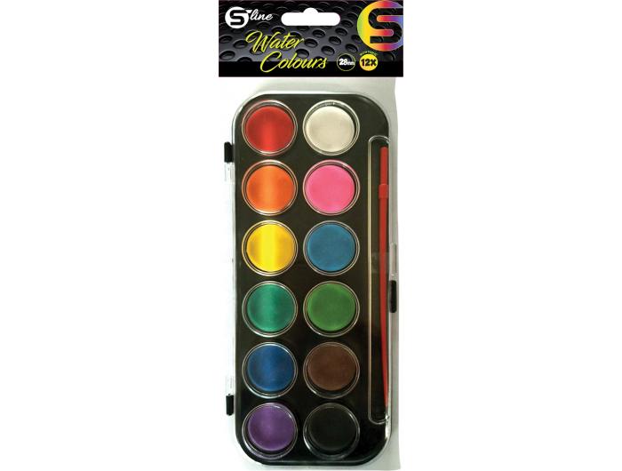 S-line Vodene boje fi 30 u PVC kutiji + kist P30/120