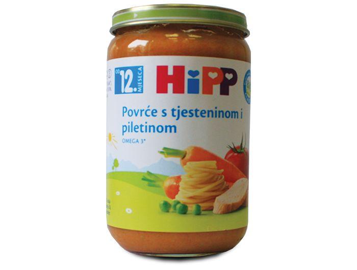 Dječja hrana, 220 g, piletina/povrće/tjestenina, Hipp