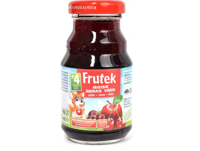 Fructal Frutek voćni sok od višnje, jabuke i grožđa 125 ml