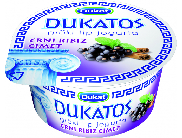 Dukat Dukatos grčki tip jogurta crni ribiz  cimet 150 g