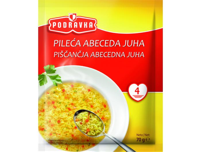 Podravka Pileća abeceda juha 70 g