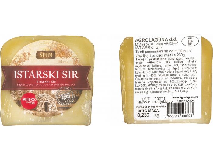 Špin Istarski miješani sir 230 ml