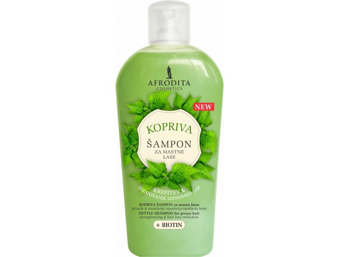 Afrodita šampon za masnu kosu, Kopriva & Biotin  1 L