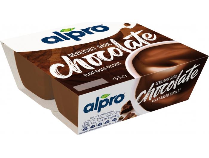 Alpro desert od soje s tamnom čokoladom 4x125 g