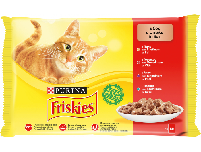 Friskies Hrana za mačke mesni meni 4x85 g