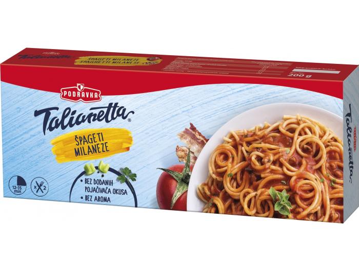 Podravka Talianetta špageti Milaneze 200 g