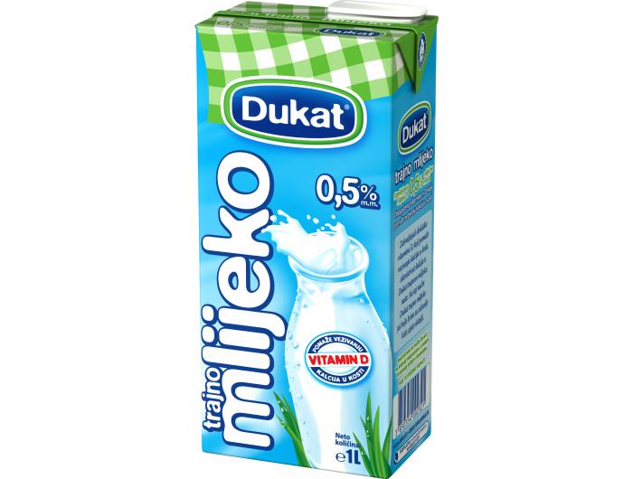 Dukat trajno mlijeko 0.5% m.m. 0,5 L