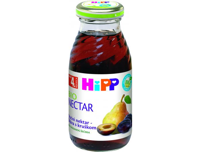 Hipp BIO nektar šljiva s kruškom 200 ml