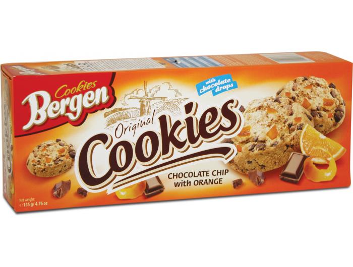 Berge keks s komadićima čokolade i naranče 135 g