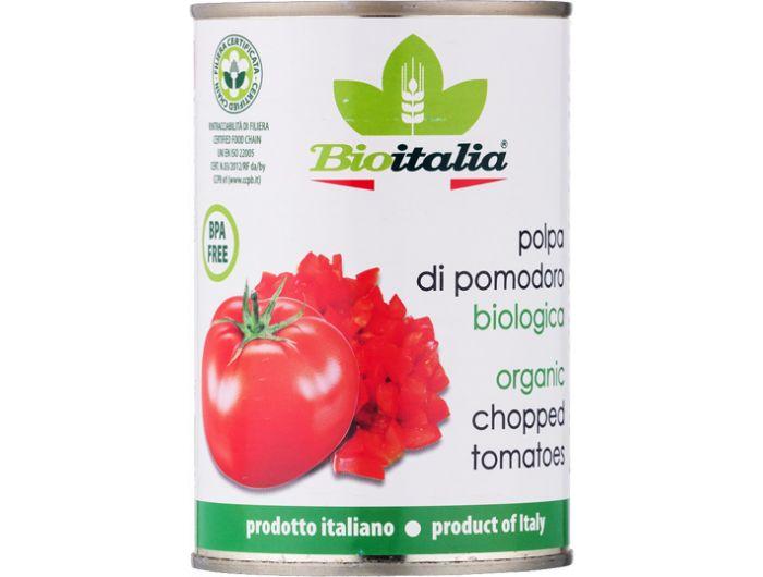 Bio sjeckana rajčica, 400 g, oguljena, BioItalia