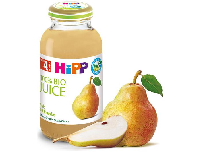 Hipp bio sok kruška 200 ml