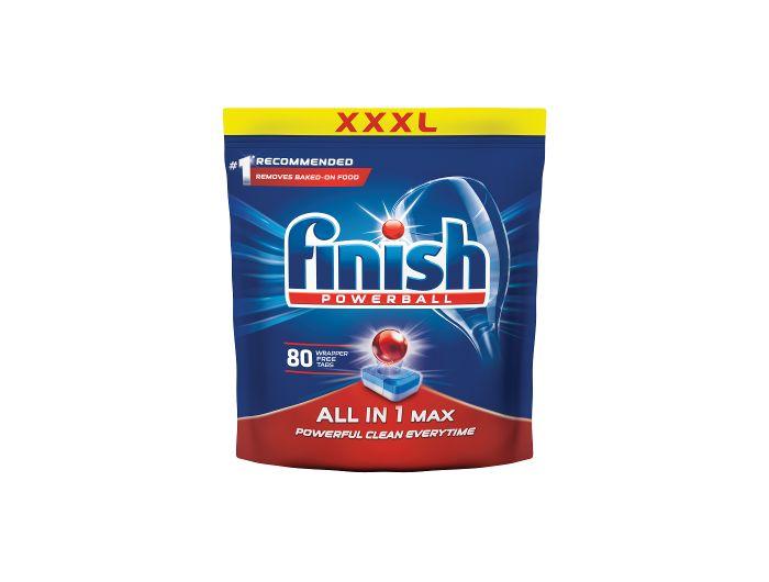 Finish deterdžent za strojno pranje posuđa All in one max 80 kom