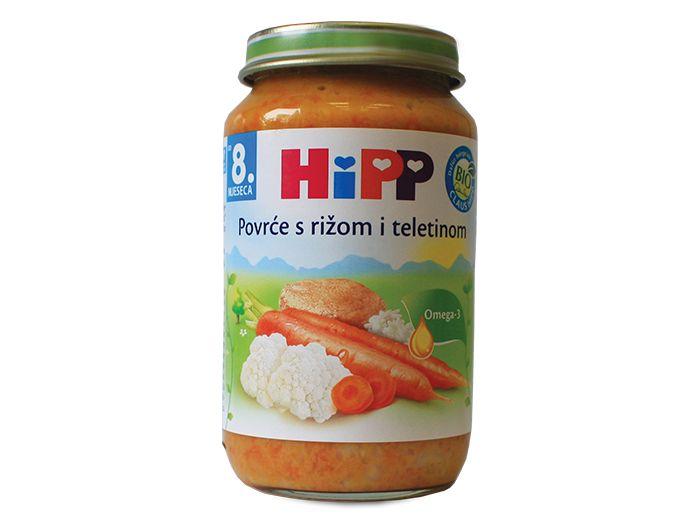 Dječja hrana, 220 g, teletina/povrće/riža, Hipp