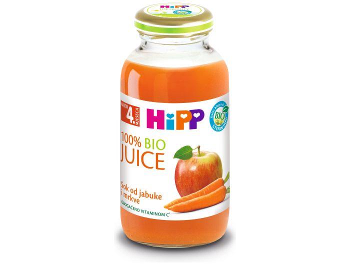 Hipp bio sok jabuka mrkva 200 ml