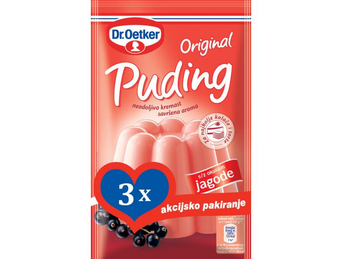 Dr.Oetker original puding čokolada 3+1 gratis 4x40 g