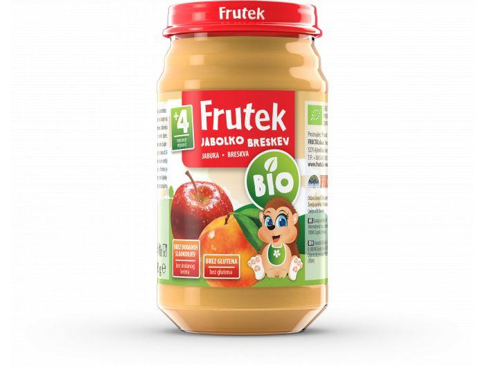 Frutek Bio Dječja kašica jabuka i breskva 190 g