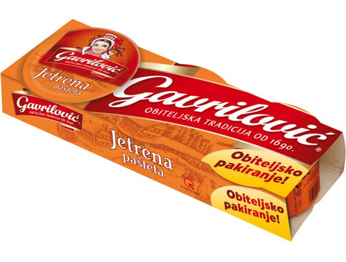 Gavrilović pašteta jetrena 1 pak 3x100 g