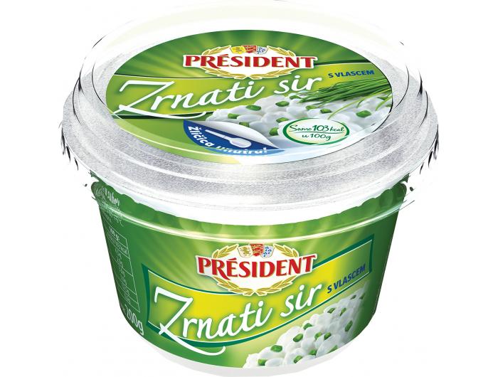 President zrnati sir s vlascem 200 g