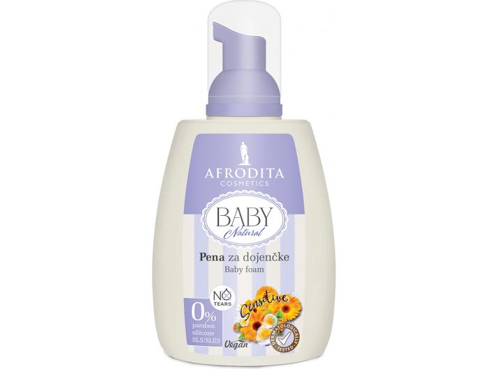 Afrodita Kids Natural Pjena za kosu i tijelo 190 ml