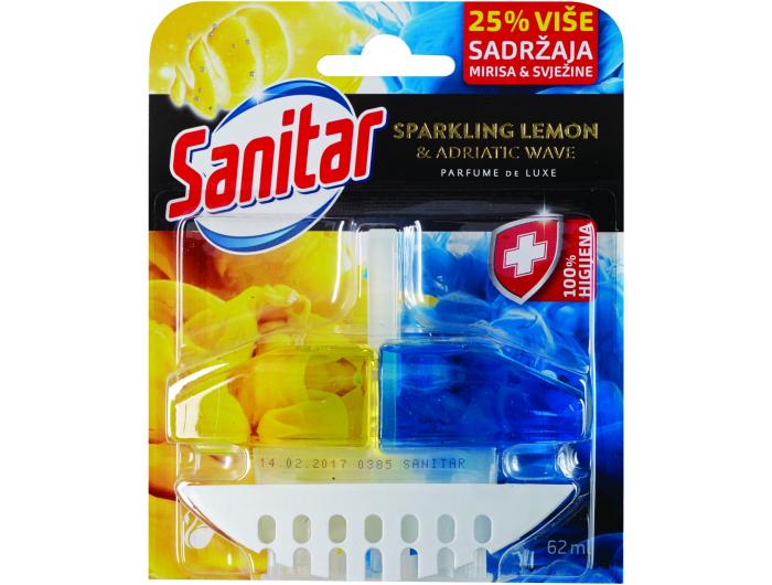 Sanitar sredstvo za čišćenje i osvježavanje wc školjke Sparkling lemon 62 ml