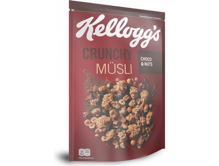 Kellogg's hrskavi muesli s čokoladom i lješnjacima 500g