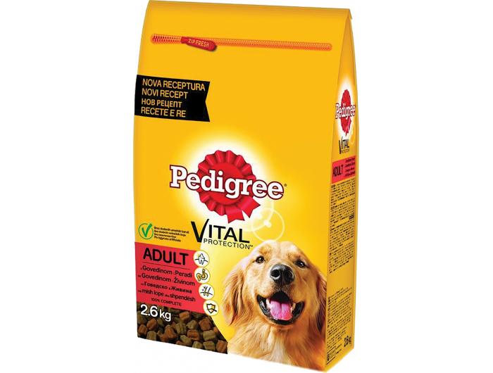 Pedigree hrana za pse govedina i perad 2,6 kg