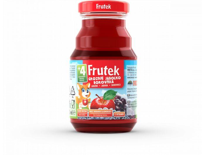Frutek Dječji sok jabuka, grožđe i borovnica 125 ml
