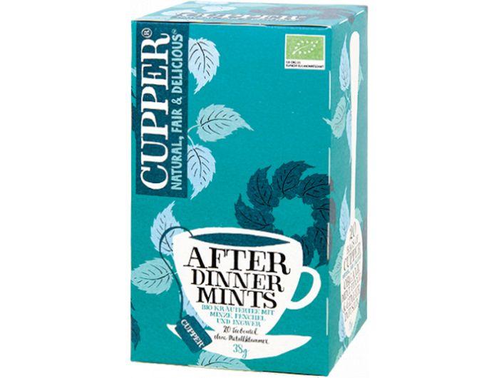 Bio čaj, 38 g, after dinner mint, Cupper