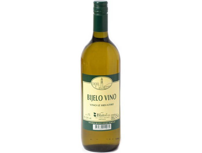 Vino bijelo Vinogorje Korčula-Blato 1 L