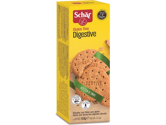Keksi, 150 g, bez glutena, Digestive, Schar