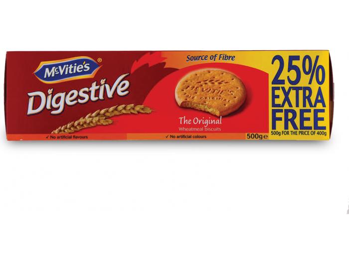 McVities Digestive keks 400g + 25% gratis